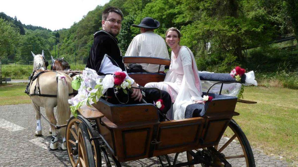 Mittelalter-Brautpaar