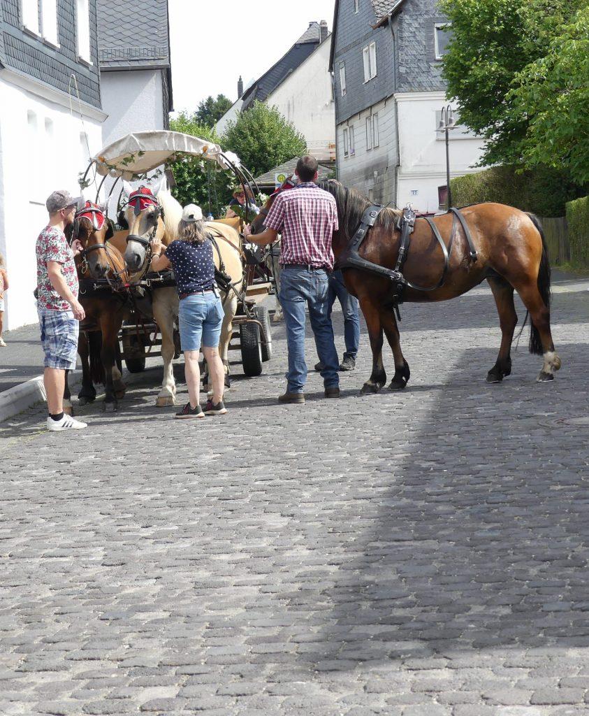 Wechseln der Pferde